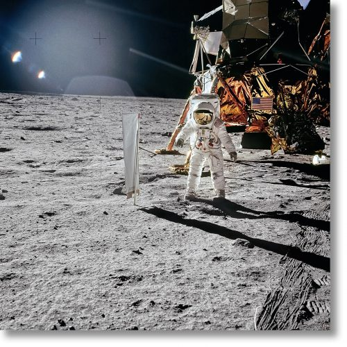 Apollo 11 – Solar Wind Composition Experiment by Buzz Aldrin at Taschen