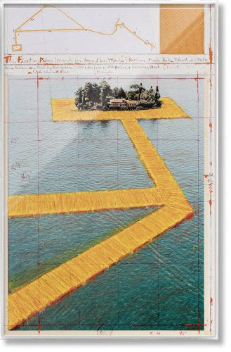 The Floating Piers, Art Edition No. 41–60 (Collage) by Christo and Jeanne-Claude
