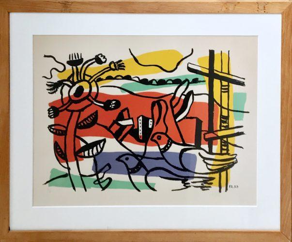 Composition aux deux Oiseau by Fernand Leger