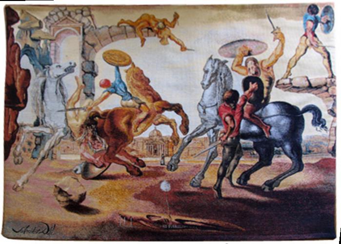Battle around a Dandelion by Salvador Dali