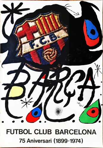Poster for the 75th Anniversary of the Barcelona Football Club by Joan Miro
