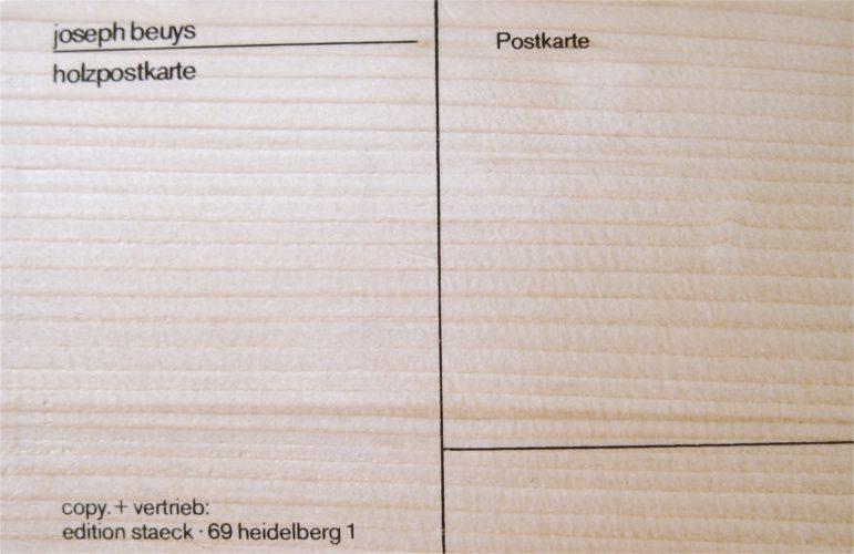 Holzpostkarte by Joseph Beuys