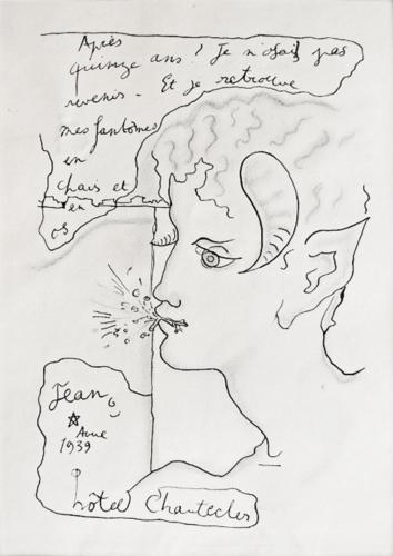 Faun a la brindille by Jean Cocteau at Fairhead Fine Art