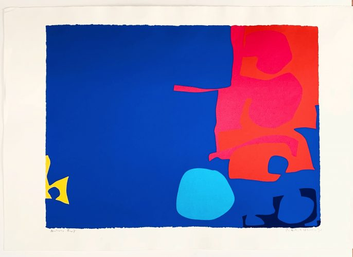 Interlocking Pink and Vermilion with Blue: April 1970 by Patrick Heron