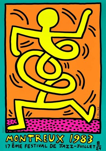 Montreux Jazz Festival (green) by Keith Haring