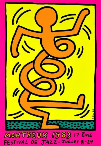 Keith Haring Montreux Jazz Festival (pink) by Keith Haring