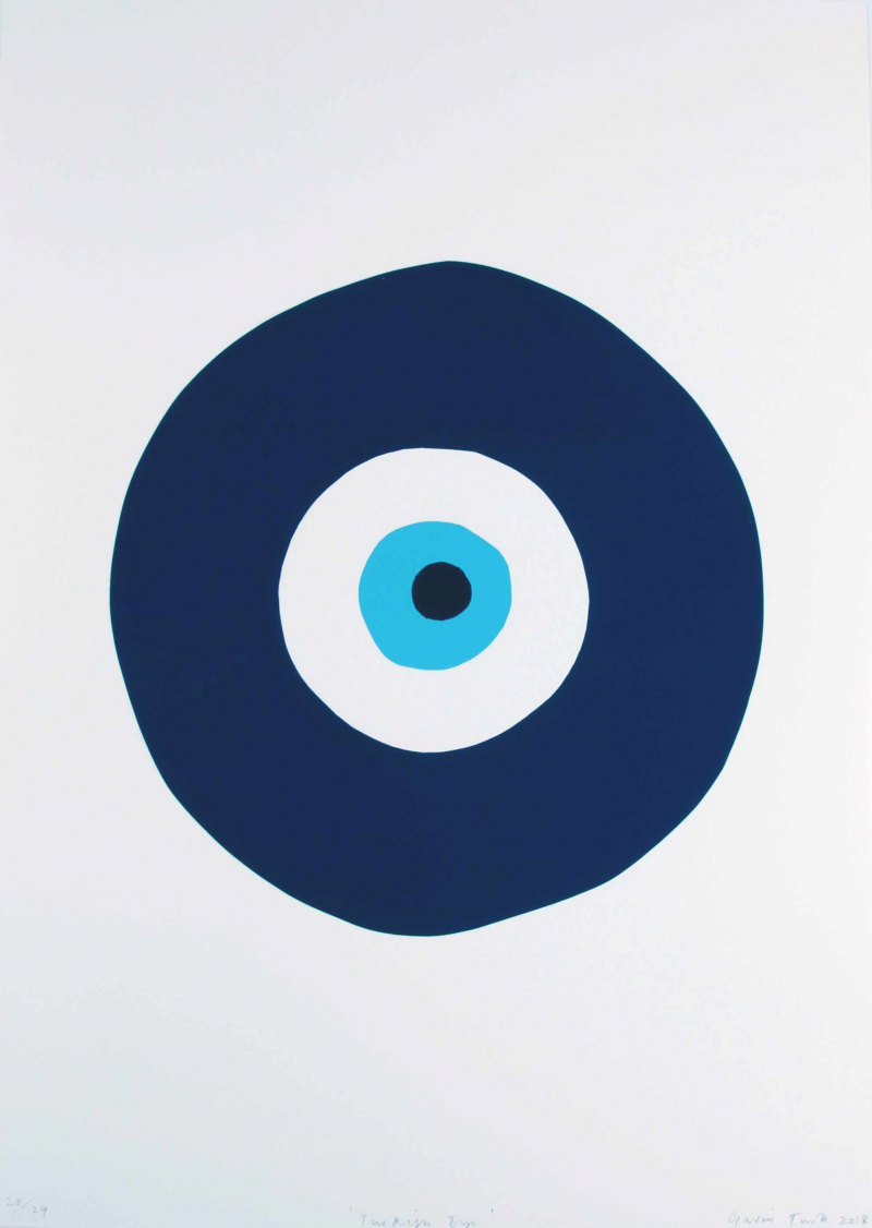 Turkish Eye (Blue and Turquoise) by Gavin Turk