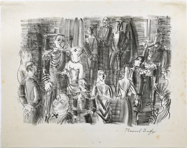 Le Bal chez L'Amiral  by Raoul Dufy at