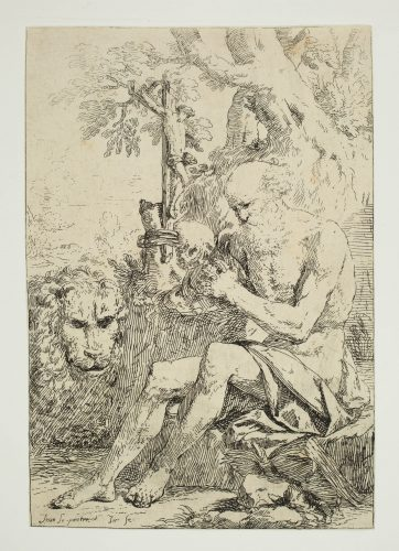 Saint Jerome in the Wilderness by Jean Lepautre