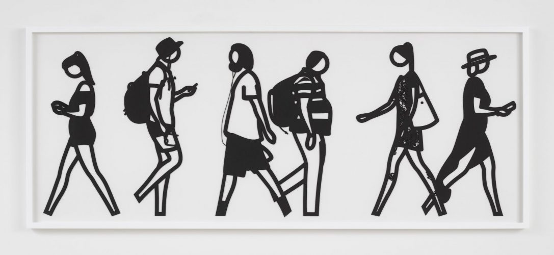 Walking in Melbourne 6 by Julian Opie