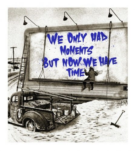 Now is the Time (blue) by Mr. Brainwash at