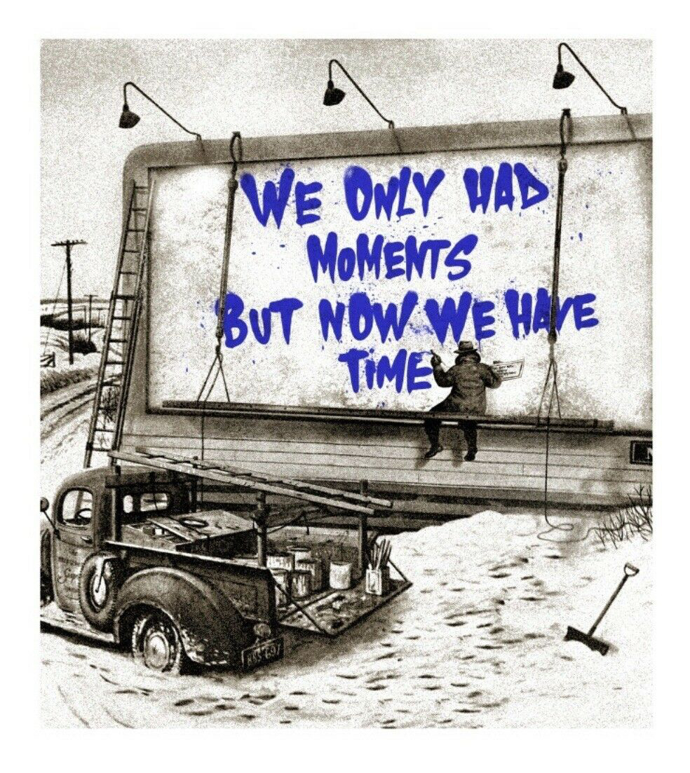 Now is the Time (blue) by Mr. Brainwash
