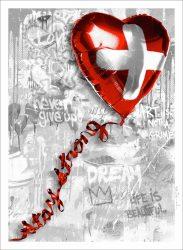 Stay Strong Swiss by Mr. Brainwash at Frank Fluegel Gallery