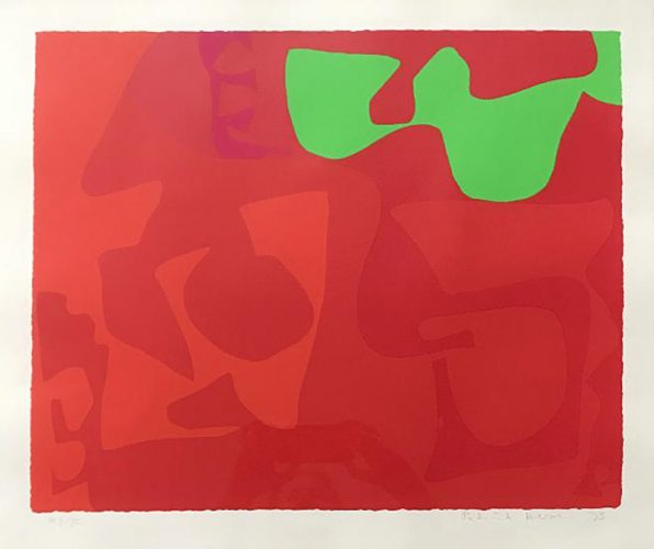 Small Red: January 1973: 2 by Patrick Heron