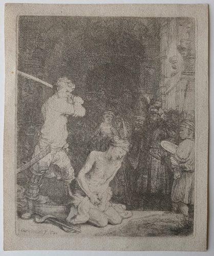 The Beheading of St John the Baptist by Harmensz van Rijn Rembrandt at