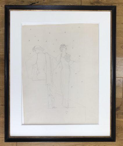 Robes du soir sur fond étoile by Jean Cocteau at