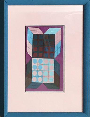 Sans Titre  – Mauve by Victor Vasarely at