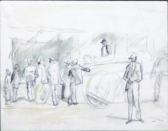 Scene de Marche by Jules Pascin
