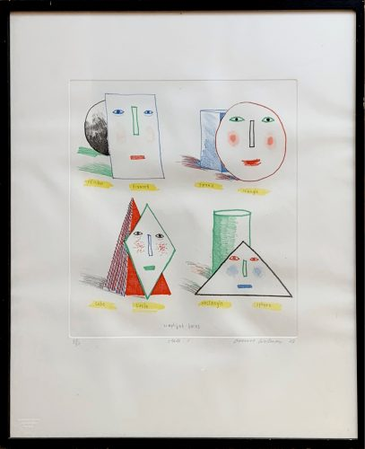 Simplified Faces State I by David Hockney