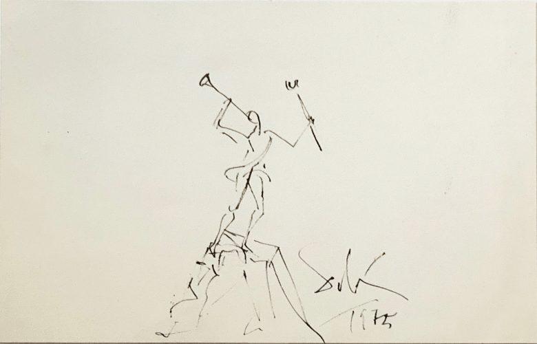 Study for the sculpture Mercurio by Salvador Dali