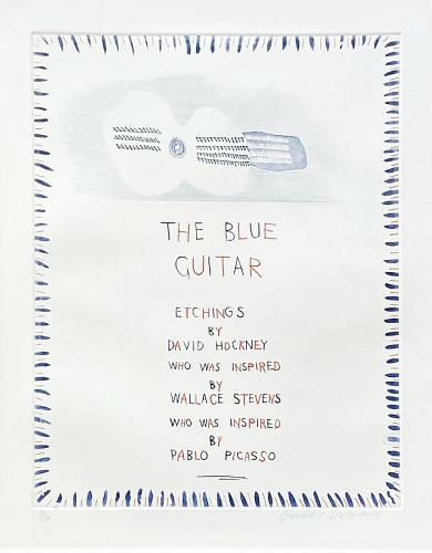 The Blue Guitar 1 by David Hockney at Fairhead Fine Art