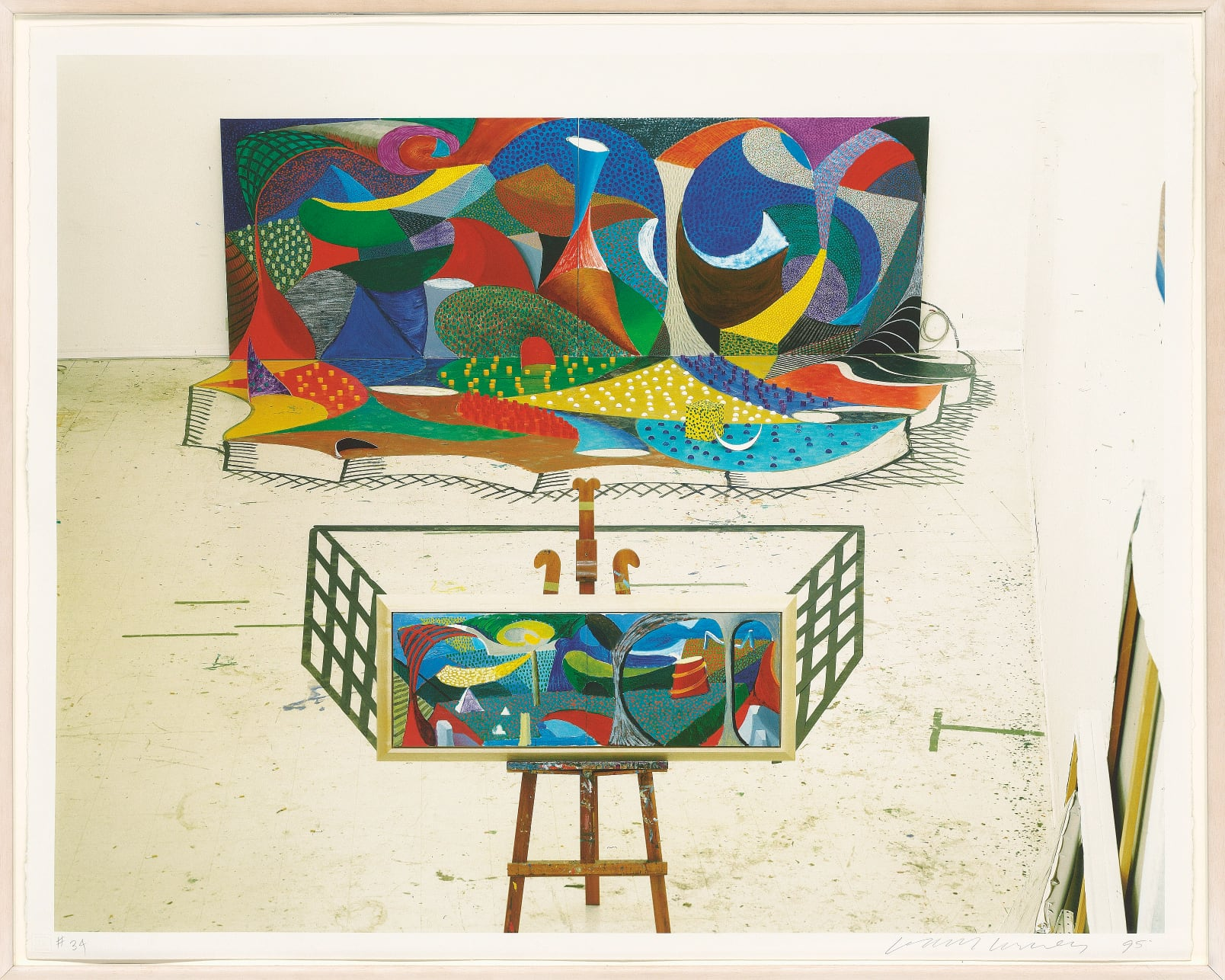 Snails Space: The Studio March 28th 1995 by David Hockney