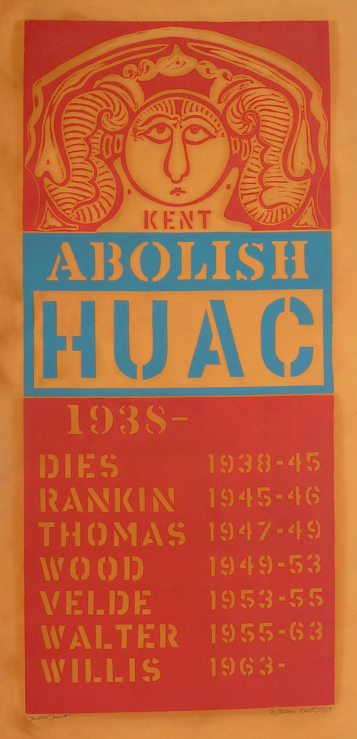 Abolish HUAC (House on Un-American Activities Committee) by William Kent