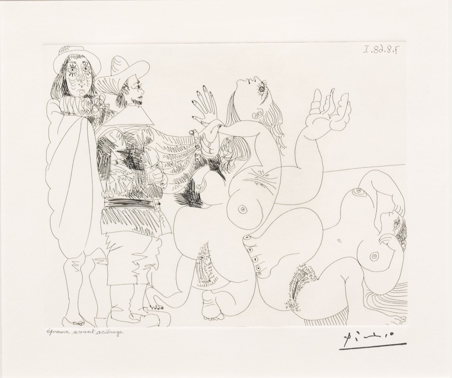 Jeune Seigneur Fantoche…, from the 347 Series by Pablo Picasso