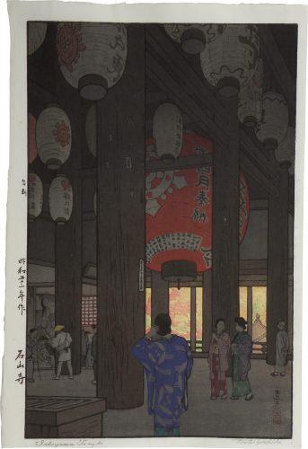 Ishiyama Temple by Toshi Yoshida at