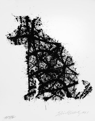 """""""Jackson Pollock's Dog (On My Old Black and White TV"""" by David Gilhooly"""