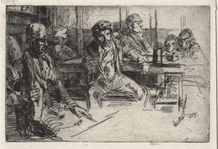 Longshoremen (Longshore Men) by James Abbott McNeill Whistler at