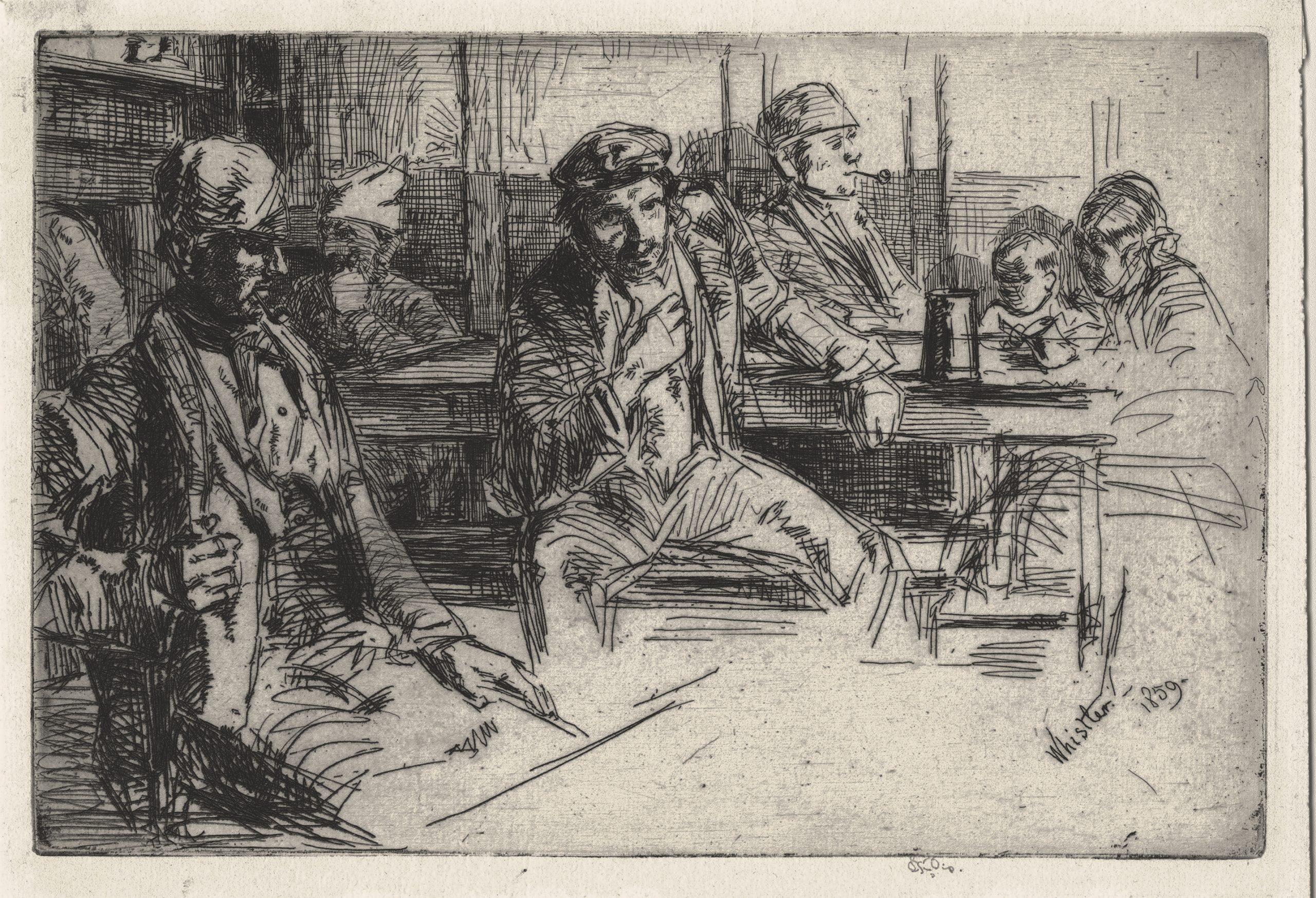 Longshoremen (Longshore Men) by James Abbott McNeill Whistler