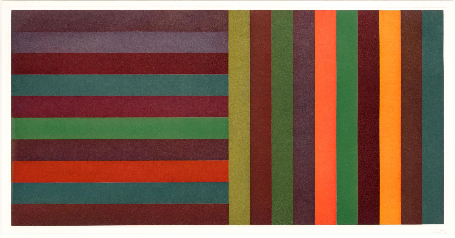 Horizontal Color Bands and Vertical Color Bands II by Sol LeWitt