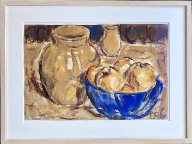 Stillleben mit Äpfeln by Christian Rohlfs at