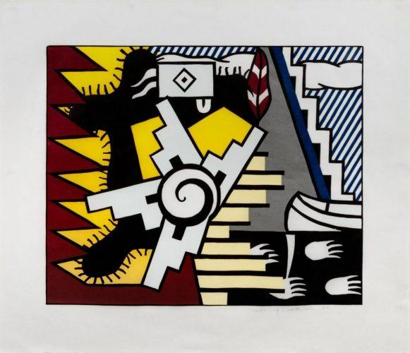 American Indian Theme II by Roy Lichtenstein