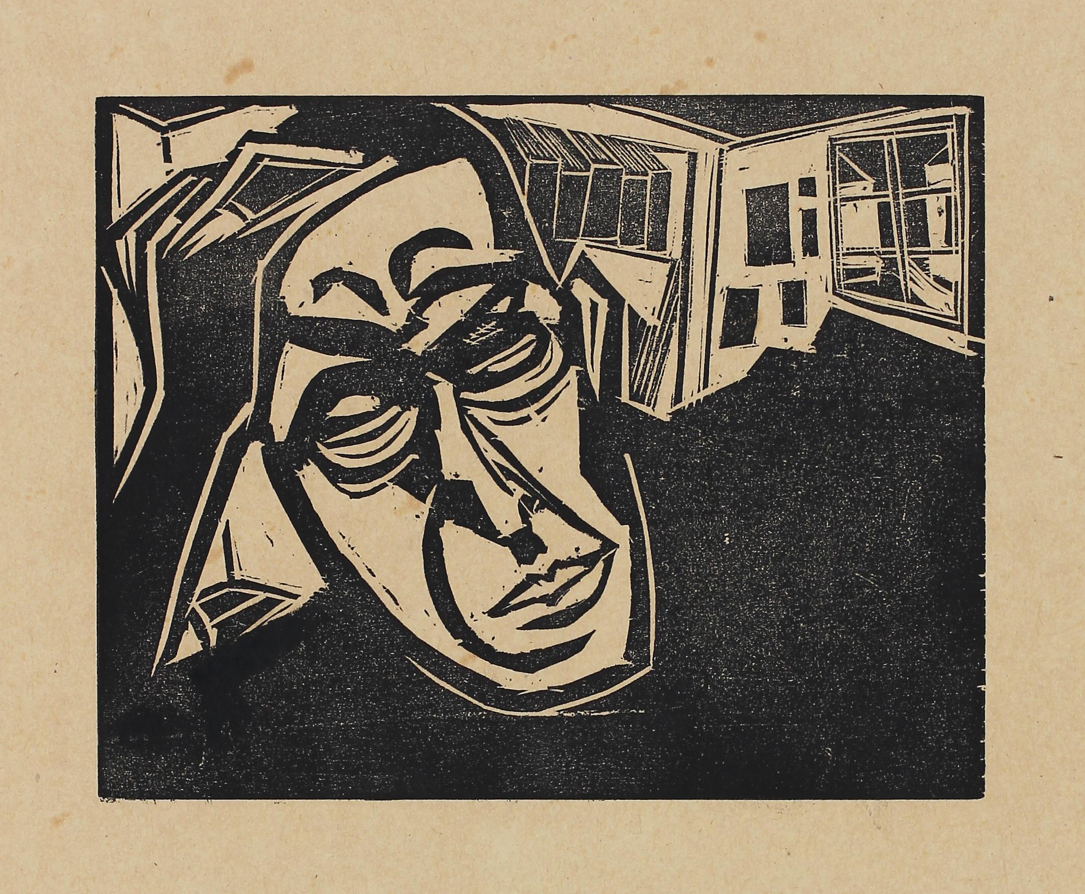 Britting (Portrait of the poet Georg Britting) by Josef Achmann