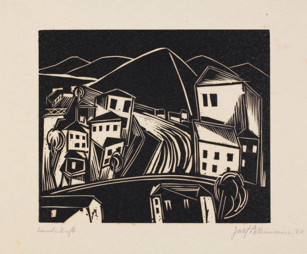 Landschaft (Landscape) by Josef Achmann at