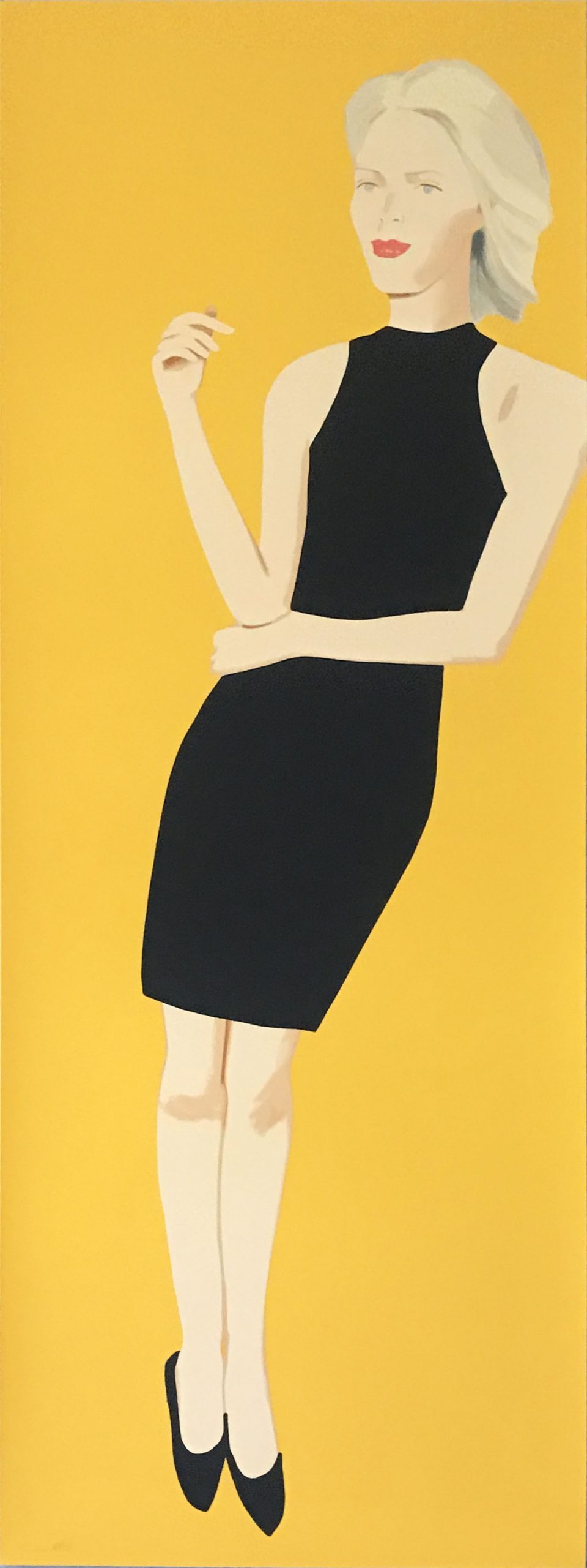 Black Dress (Ruth) by Alex Katz