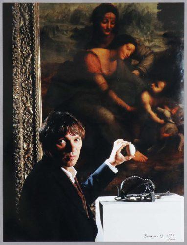 Selfportrait with an Egg and Leonardo's Madona (1996) by Braco Dimitrijevic