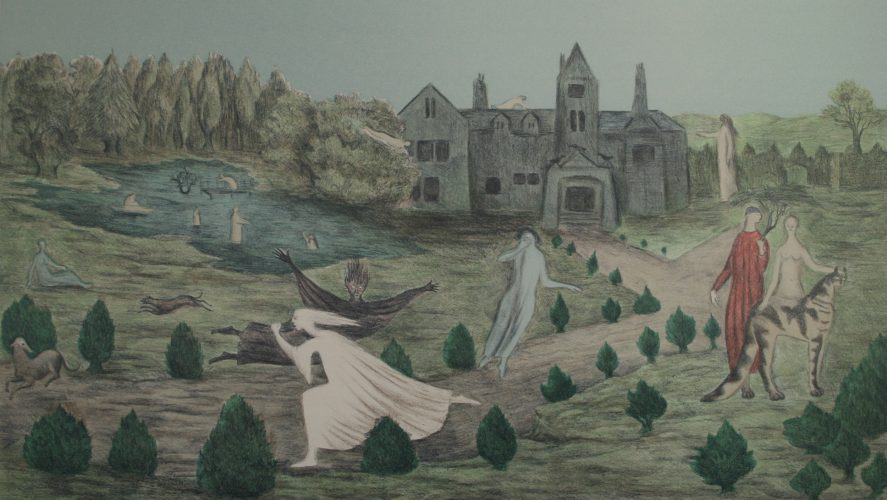 Crookhey Hall by Leonora Carrington at Gwen Hughes Fine Art