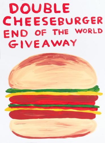 Double Cheeseburger End Of The World Giveaway by David Shrigley