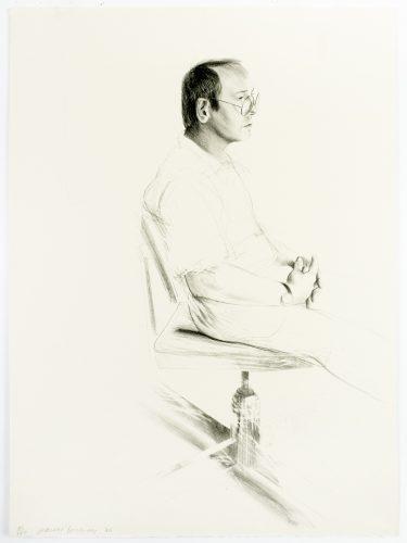 Mo McDermott by David Hockney at David Hockney