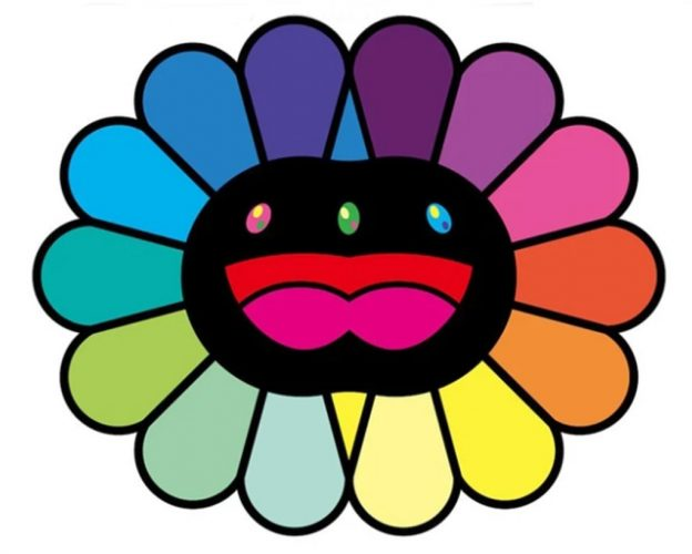 Multicolor Double Face: Black by Takashi Murakami