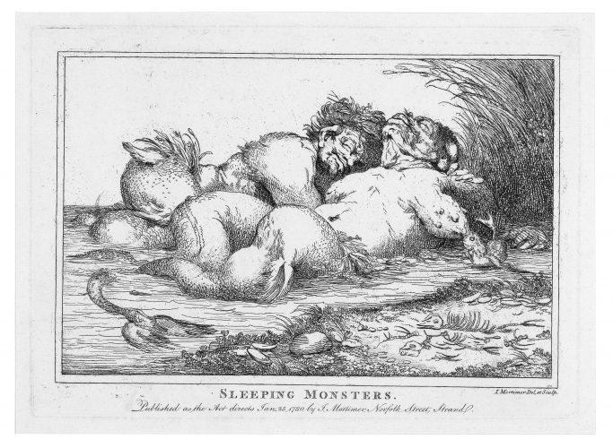 Sleeping Monsters. by John Hamilton Mortimer at