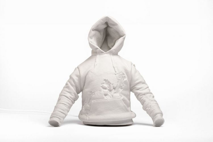 Eroded Sweatshirt by Daniel Arsham