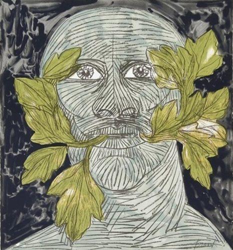 Green Man (Black) by Elisabeth Frink