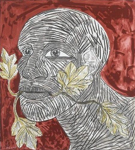 Green Man (Red) by Elisabeth Frink