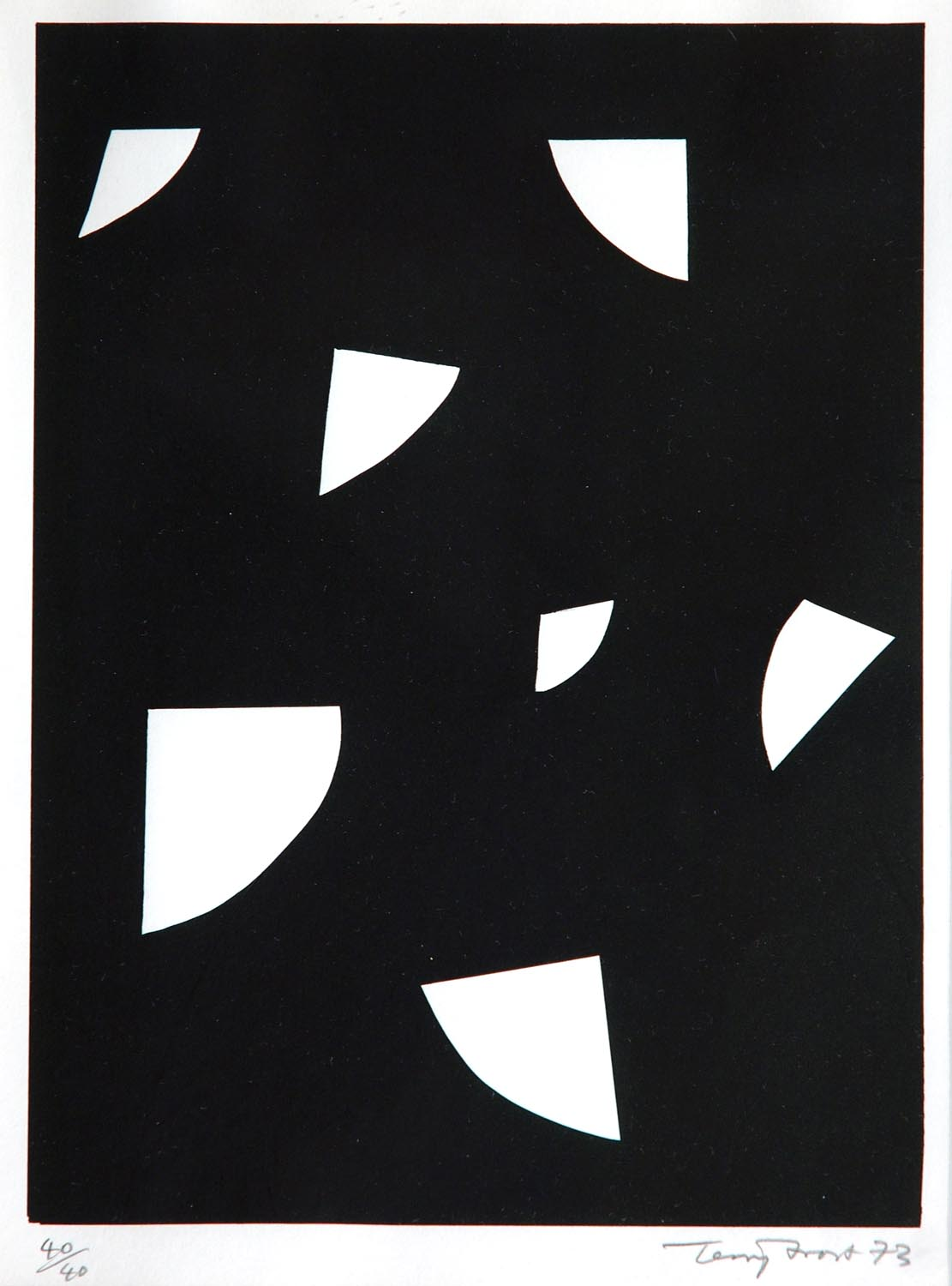 Variations (White on Black) by Terry Frost