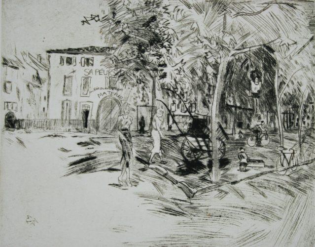 Fire Station, Villeneuve by Anthony Gross at