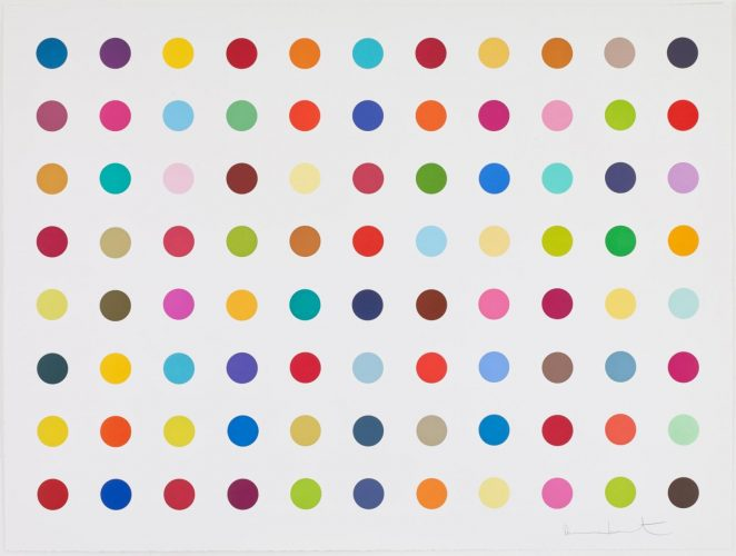 M-Fluorobenzylamine by Damien Hirst at